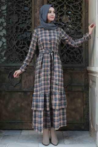 Pınar Şems Desenli Elbise Kombinleri