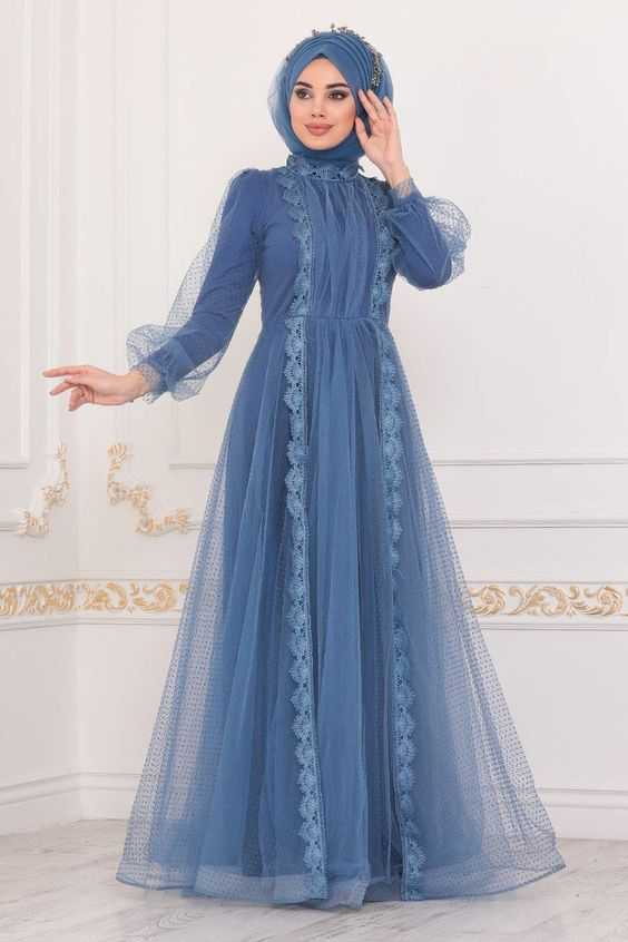 2021 Genç Tesettür Abiye Elbise Modelleri