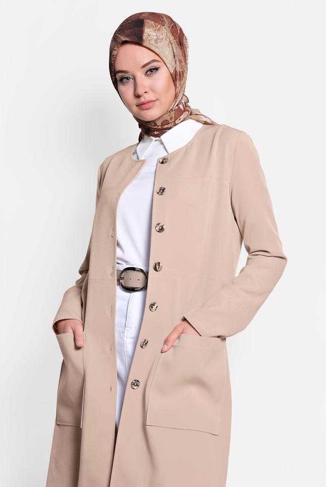 Alvina Yazlık Tesettür Uzun Ceket Modelleri