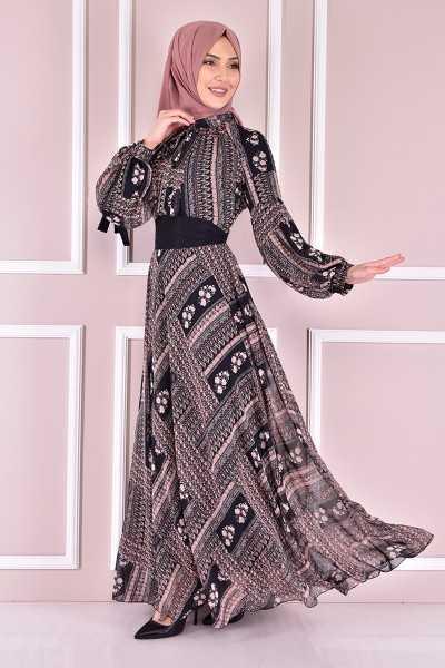 En Güzel Modamerve Genç Tesettür Elbise Modelleri