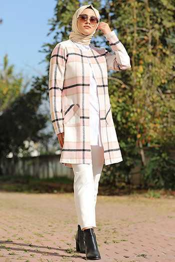 En Güzel Tozlu Tesettür Yazlık Ceket Modelleri