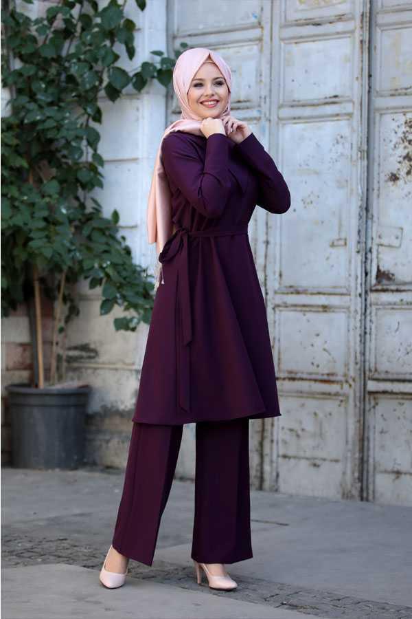 Esma Karadağ Tesettür Tunik Takım Modelleri