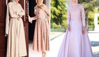 Genç Tesettür Abiye Elbise Modelleri