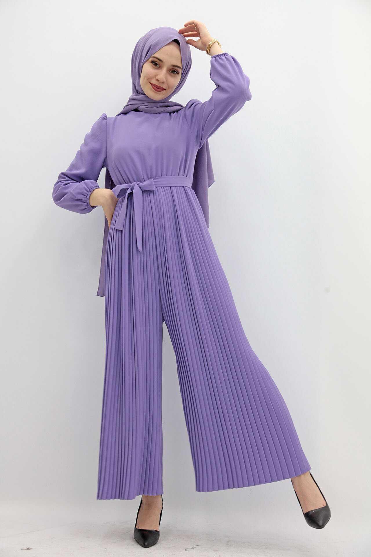 Giza Giyim Tesettür Piliseli Tulum Modelleri