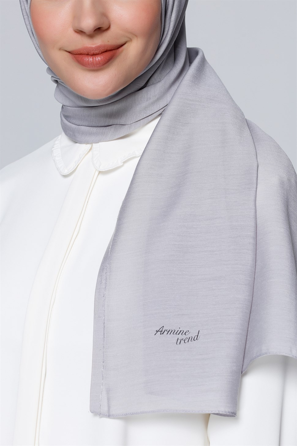 Gümüş Renk Armine Şal Modelleri