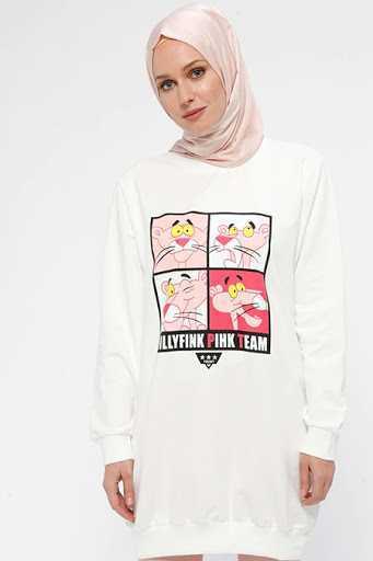 Hüma Sultan Baskılı Tesettür Sweatshirt Modelleri