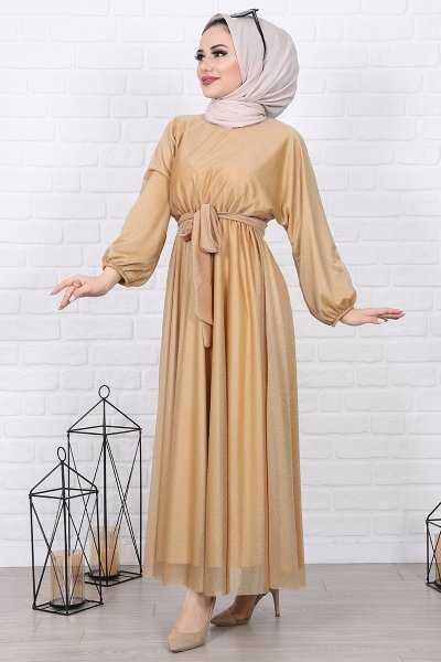 Lamia Giyim Genç Tesettür Elbise Modelleri