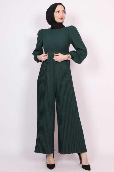 Lamia Giyim Tesettür Piliseli Şık Tulum Modelleri