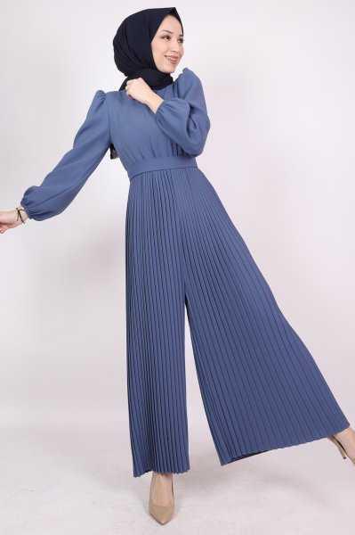 Lamia Giyim Tesettür Piliseli Tulum Modelleri