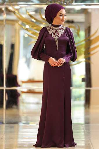 Minel Aşk Genç Tesettür Abiye Elbise Modelleri