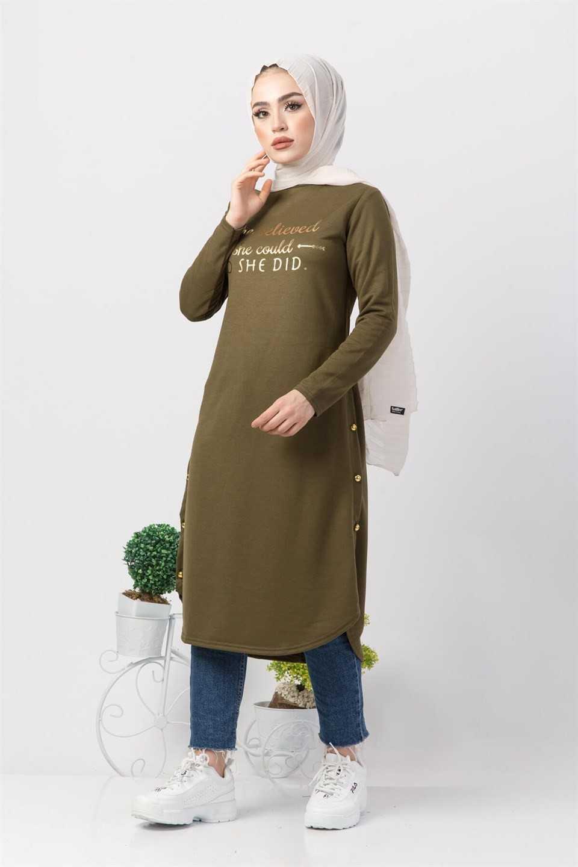 Modaperiy Tesettür Baskılı Tunik Modası