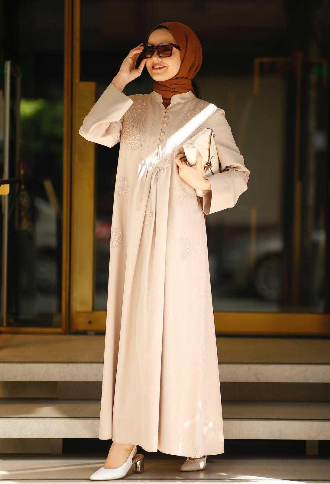 NowanStore Tesettür Krep Elbise Modelleri