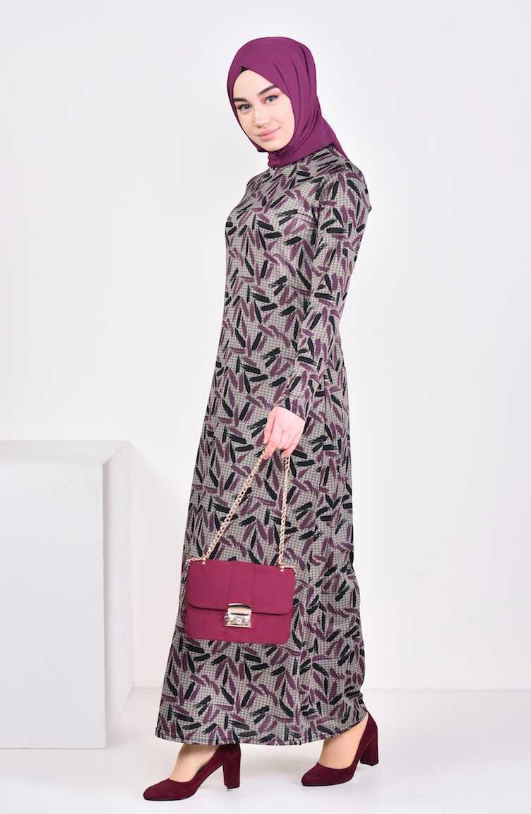 Sefamerve Genç Tesettür Desenli Elbise Modelleri