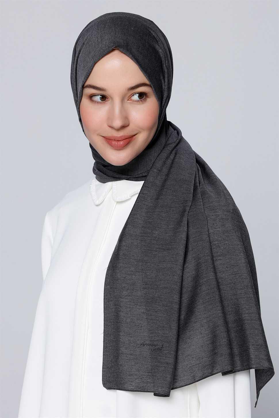 Siyah Polyester Armine Şal Modelleri