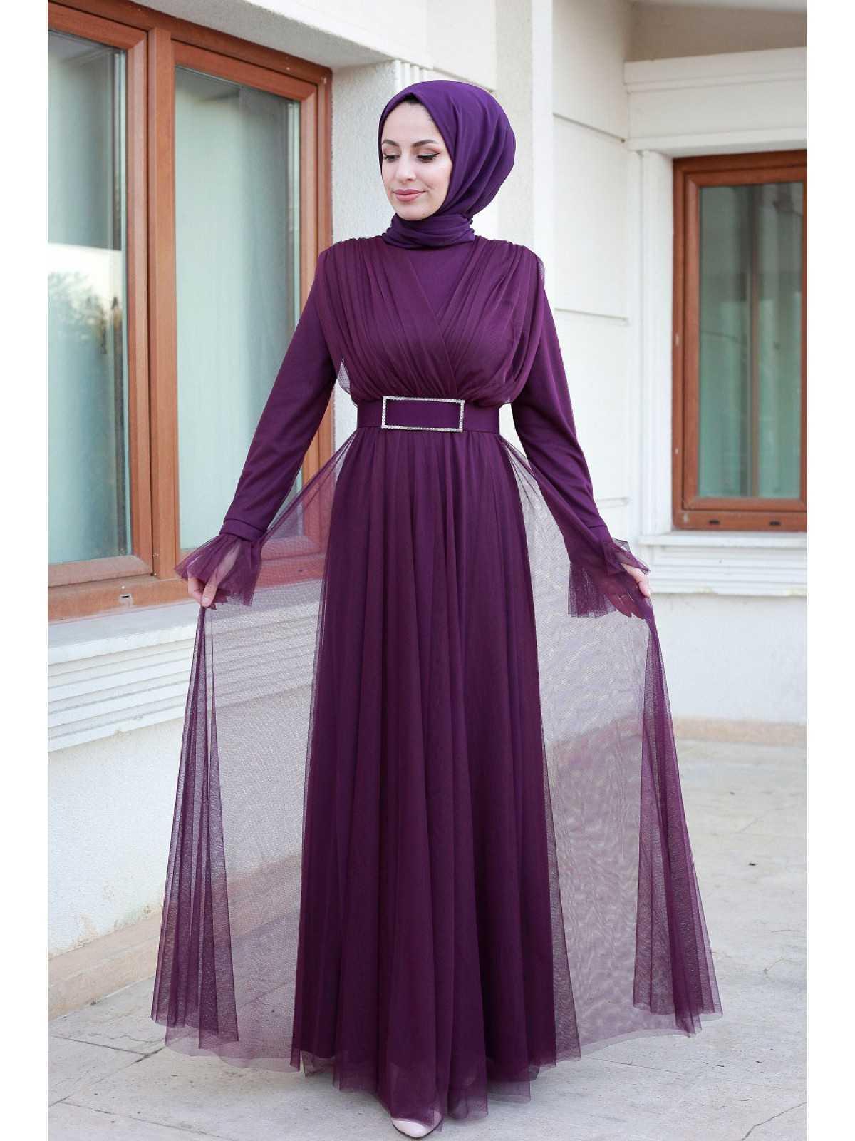 Sultan Yaprak Genç Tesettür Abiye Elbise Modelleri