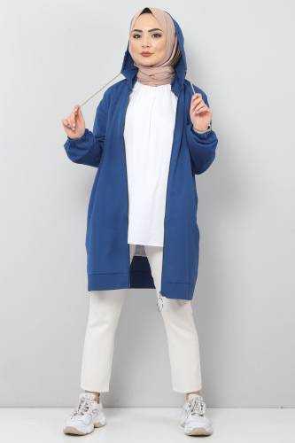 Tesettür Dünyası Yazlık Kapüşonlu Ceket Modelleri