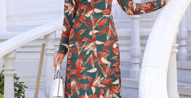 Tesettür Krep Elbise Modelleri