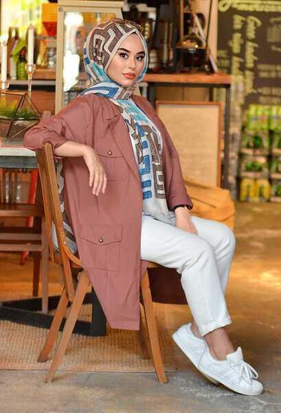 Venezia Wear Yazlık Soğan Kabuğu Tesettür Ceket Modelleri