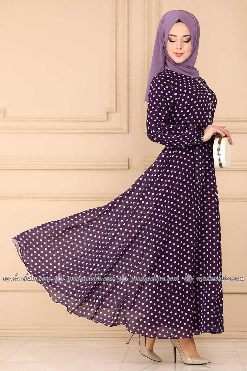 Moda Selvim Desenli Genç Tesettür Elbise Modelleri