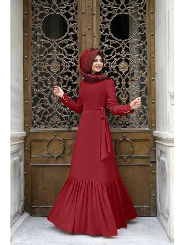 Eteği Fırfırlı Pınar Şems Özel Elbise Modelleri