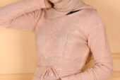 Tesettür Örgü Desen Elbise Modelleri