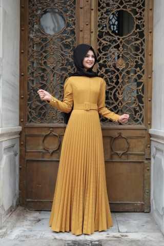 Özel Pınar Şems Tesettür Elbise Modelleri