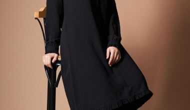 Siyah Tesettür Tunik Modelleri