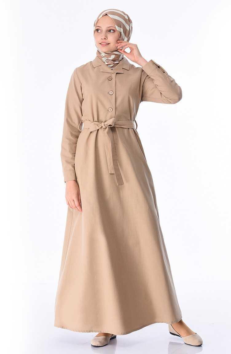 Sefamerve Tesettür Keten Elbise Modelleri