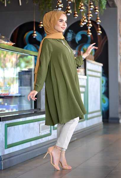 Taşlı Venezia Wear Tesettür Gömlek Modelleri
