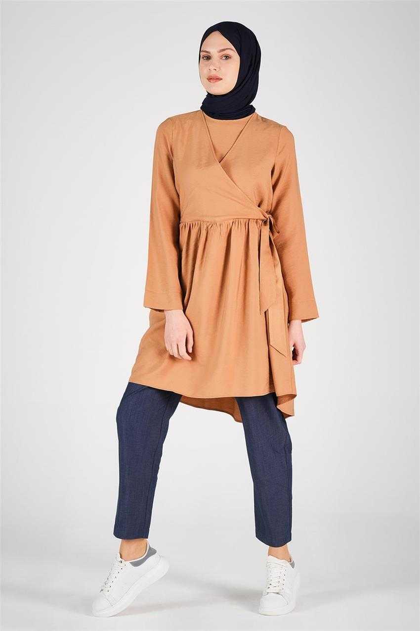 Armine Yandan Bağlamalı Tunik Modelleri