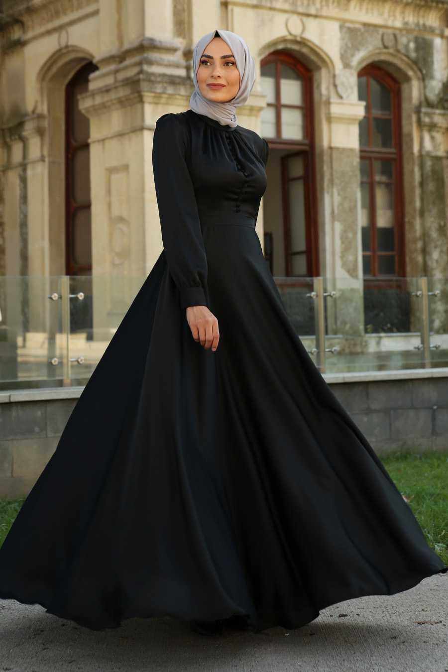 Feiza Collection Tesettür Saten Abiye Elbise Modelleri