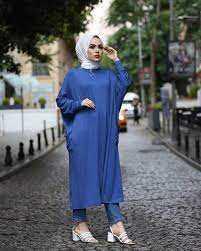 Hf Moda Giy Çık Tesettür Tunik Modelleri