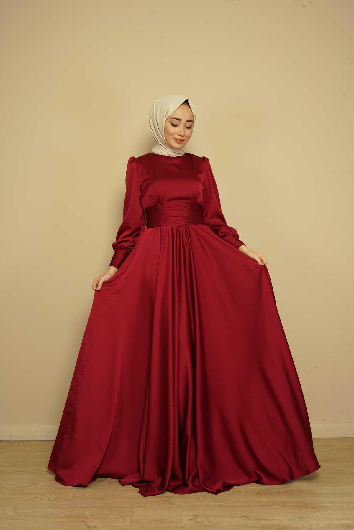Kamil Keskin Drapeli Saten Abiye Elbise Modelleri