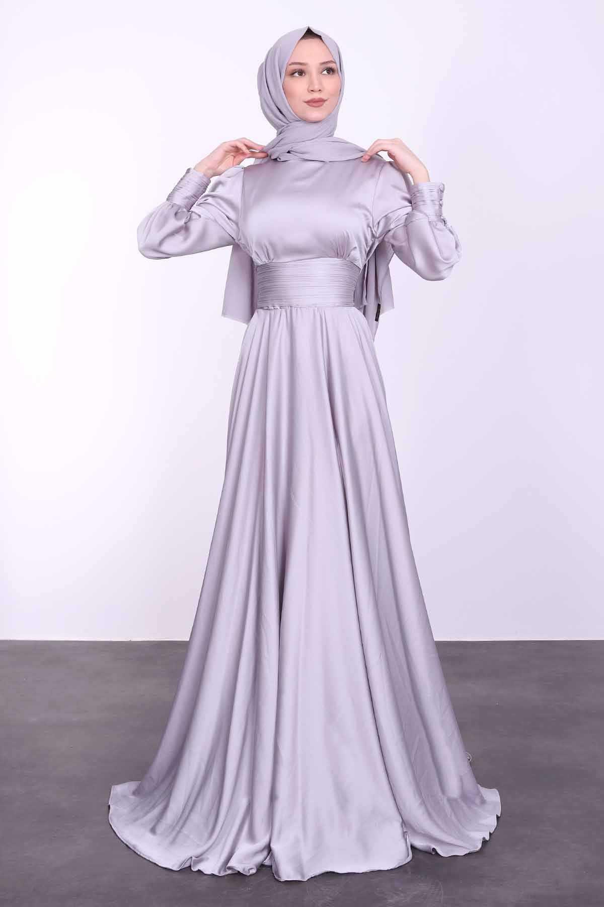 Lamia Giyim Saten Abiye Elbise Modelleri
