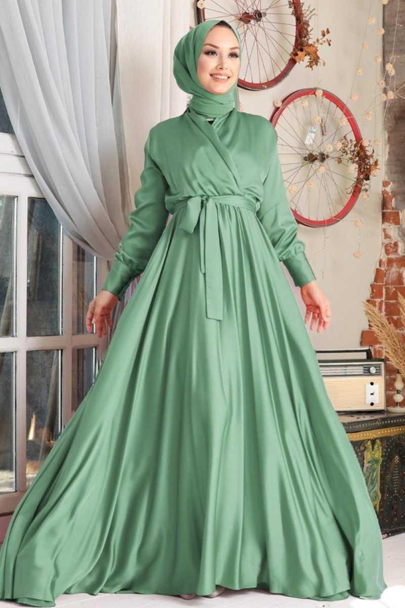 Neva Style Krep Saten Abiye Elbise Modelleri