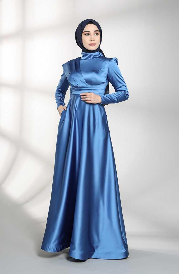 Sefamerve Allerli Saten Abiye Elbise Modelleri