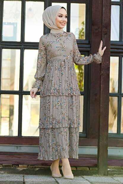 Çiçek Desenli Neva Style Desenli Elbise Modelleri