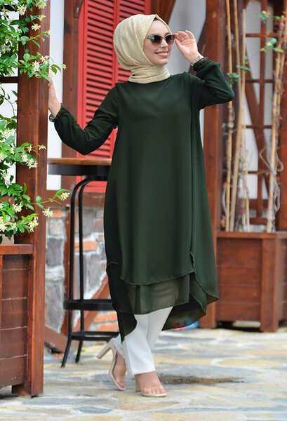 Çift Katlı Venezia Wear Yeşil Tunik Modelleri