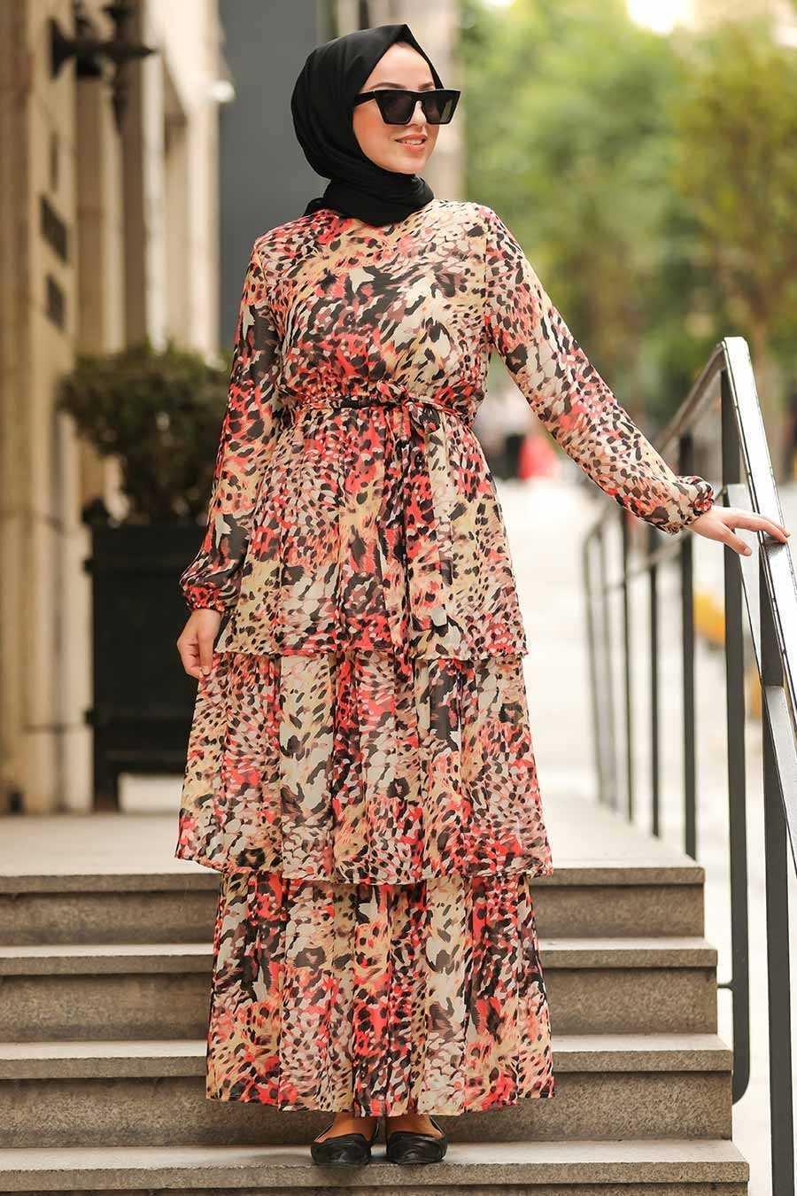 En Şık Neva Style Desenli Elbise Modelleri