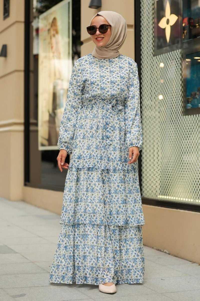 Günlük Neva Style Desenli Elbise Modelleri