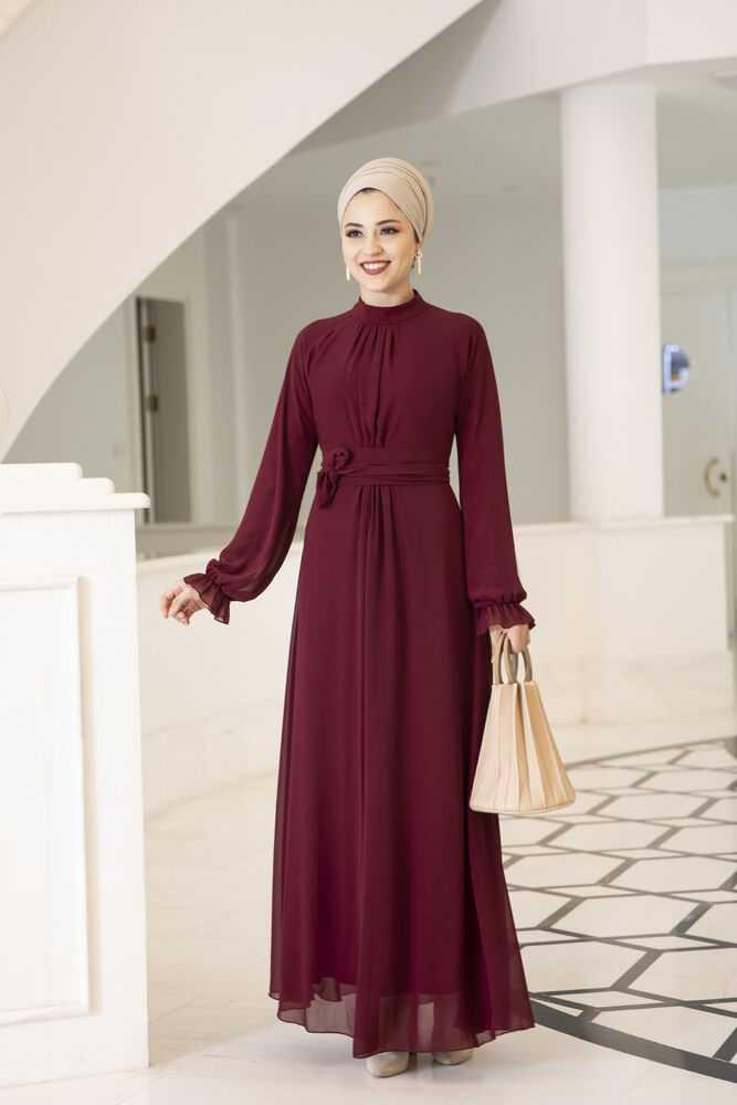 Al-Marah Büzgülü Tesettür Özel Elbise Modelleri