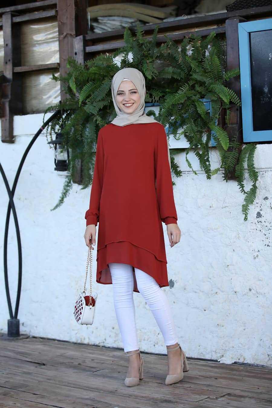 Al Marah Tesettür Krep Tunik Modelleri