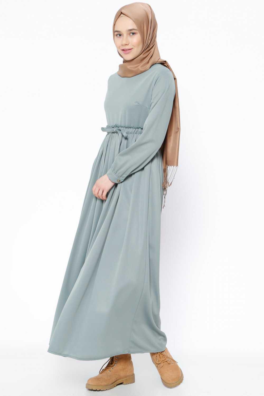 Beha Büzgülü Tesettür Elbise Modelleri