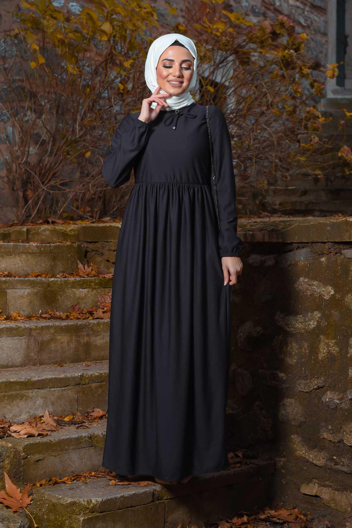 Ecesun Büzgülü Tesettür Elbise Modelleri