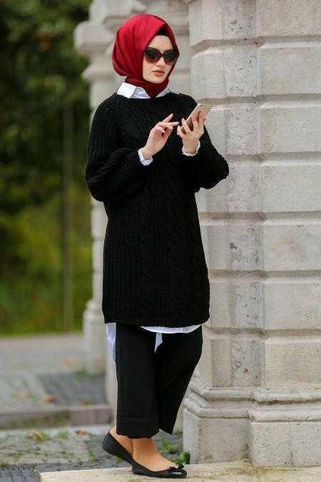 En Şık Neva Style Tesettür Örgü Tunik Modelleri