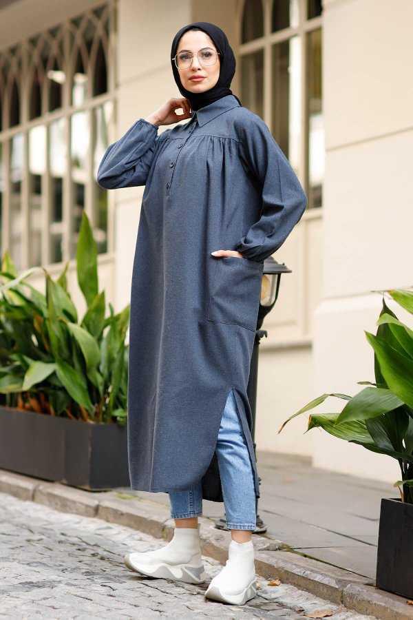 En Tesettür Robalı Uzun Tunik Modelleri