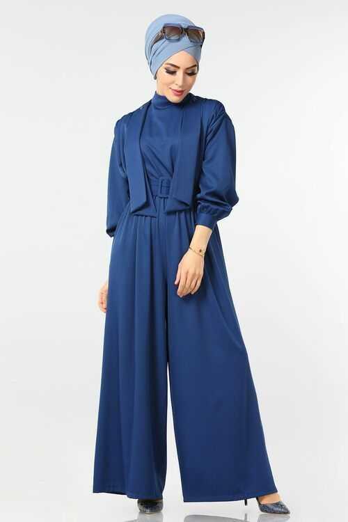 Moda Selvim Büzgülü Tesettür Tulum Modelleri