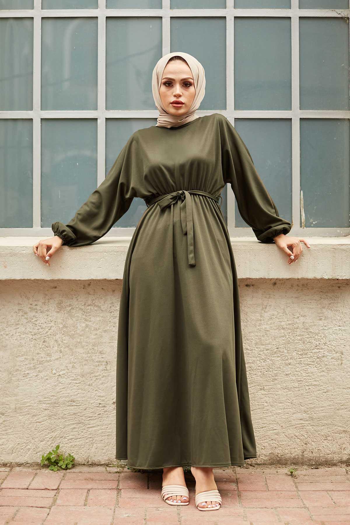 Modasena Büzgülü Tesettür Mevlana Elbise Modelleri