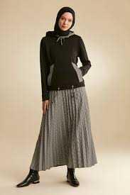 Nihan Tesettür Etek Bluz Günlük Takım Modelleri