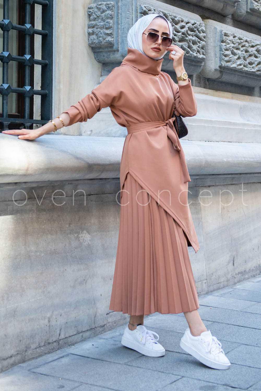 Oven Concept Tesettür Etek Bluz Takım Modelleri
